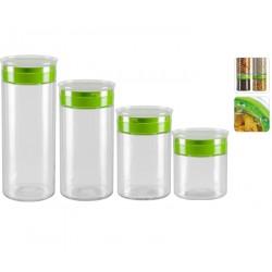 Набор ёмкостей для сыпучих продуктов TEKLA 741115 2,2/1,7/1,25/0,85 литра