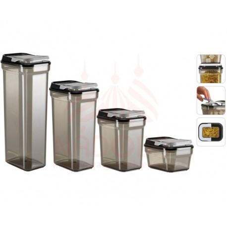 Набор ёмкостей для сыпучих продуктов SVATAVA 741314 2,3/1,7/1/0,38 литра