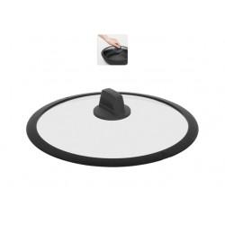 Стеклянная крышка с силиконовым ободом DARA 28 см 751611