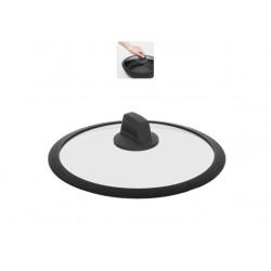 Стеклянная крышка с силиконовым ободом DARA 24 см 751613