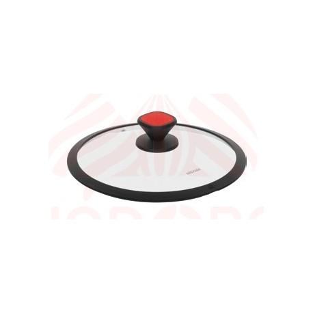 Стеклянная крышка с силиконовым ободом GUSTA 28 см 751711