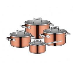 Набор посуды Nadoba Medena со стеклянными крышками 8 пр. 5,8/3,3/2,3/1,6 литра