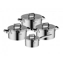 Набор посуды Nadoba Dona со стеклянными крышками 8 пр. 5,1/3,1/2,3/1,6 литра