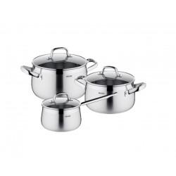 Набор посуды Nadoba Vorsa со стеклянными крышками 6 пр. 7,1/4,2/2 литра