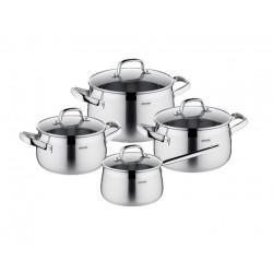 Набор посуды Nadoba Vorsa со стеклянными крышками 8 пр. 7,1/4,2/3,2/2 литра
