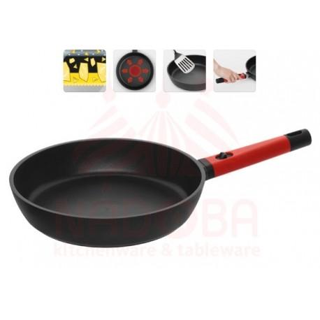 Сковорода с антипригарным покрытием и съемной ручкой GUSTA 28 см 729216