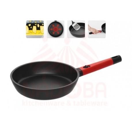 Сковорода с антипригарным покрытием и съемной ручкой GUSTA 24 см 729218