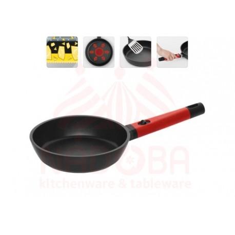 Сковорода с антипригарным покрытием и съемной ручкой GUSTA 20 см 729219