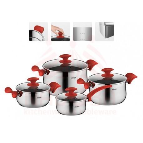 Набор посуды со стеклянными крышками KARLA 8 предметов 727519