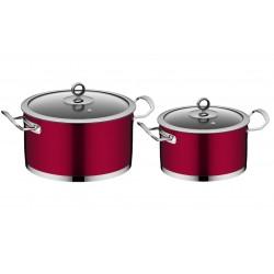 Набор посуды Nadoba CERVENA на 4 предмета на 5,8 и 3.2 литра