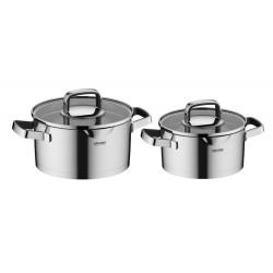 Набор посуды Nadoba DONA со стеклянными крышками 4 пр. на 3 и 2 литра