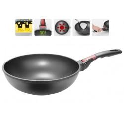 Сковорода-ВОК с антипригарным покрытием и съемной ручкой VILMA 28 см