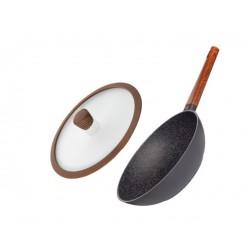 Сковорода-вок Nadoba с крышкой серии OLDRA 28 см 728822