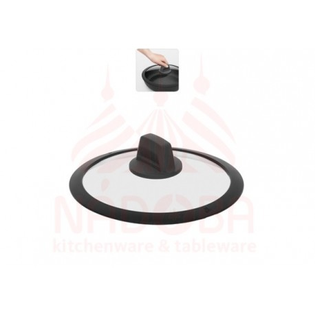 Стеклянная крышка с силиконовым ободом DARA 20 см 751615