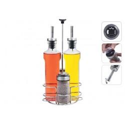 Набор бутылок для масла, уксуса и ёмкостей для специй PETRA 5 предметов 741015