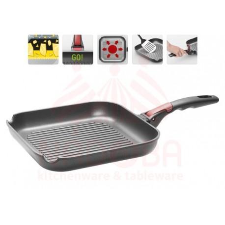 Сковорода-гриль с антипригарным покрытием и съемной ручкой VILMA 26*26 см