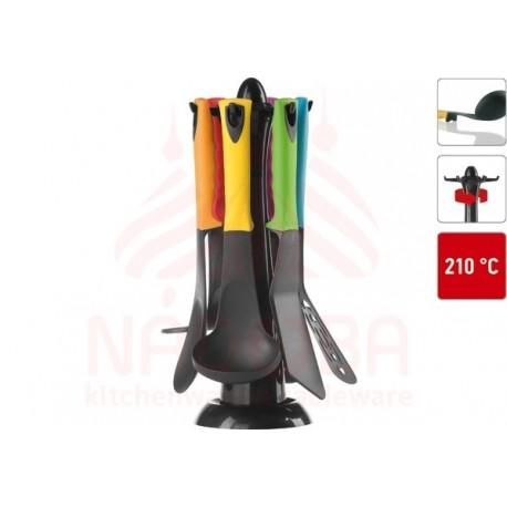 Набор кухонных инструментов с нейлоновым покрытием FLAVA 7 предметов