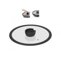 Стеклянная крышка с силиконовым ободом серии FINA, 26 см 751012
