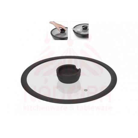 Стеклянная крышка с силиконовым ободом серии FINA, 26 см
