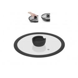 Стеклянная крышка с силиконовым ободом серии FINA, 24 см 751013