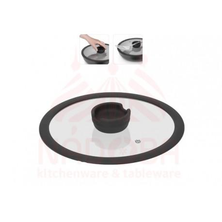 Стеклянная крышка с силиконовым ободом серии FINA, 24 см