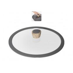Стеклянная крышка с силиконовым ободом MINERALICA 28 см