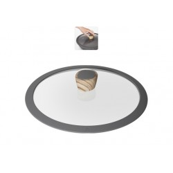 Стеклянная крышка с силиконовым ободом MINERALICA 26 см