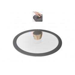 Стеклянная крышка с силиконовым ободом MINERALICA 24 см 751213