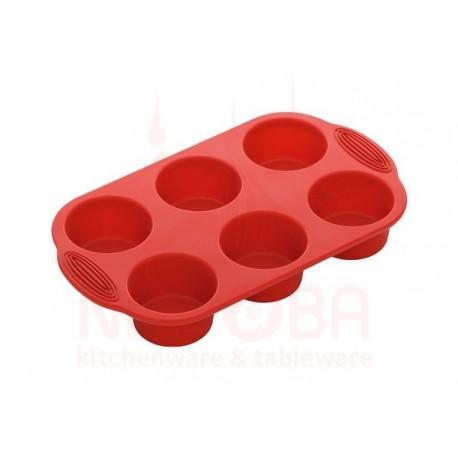 Форма для 6 круглых маффинов силиконовая NADOBA серии MÍLA