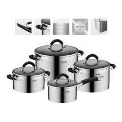 Набор посуды со стеклянными крышками OLINA 8 предметов 726419