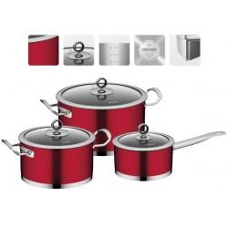 Набор посуды со стеклянными крышками CERVENA 6 предметов 726518