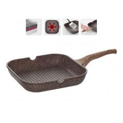Сковорода-гриль Greta с антипригарным покрытием 28х28 см 728620