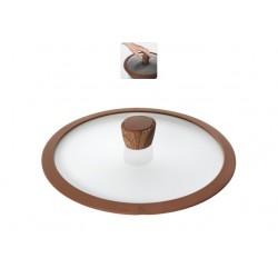 Стеклянная крышка с силиконовым ободом Greta 26 см 751312