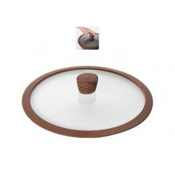 Стеклянная крышка с силиконовым ободом Greta 28 см 751311