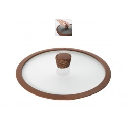 Стеклянная крышка с силиконовым ободом Gréta 28 см