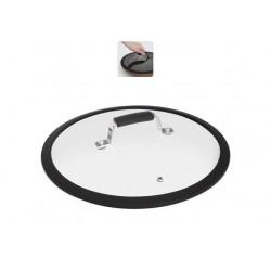 Стеклянная крышка с силиконовым ободом 26см LOTA 751412