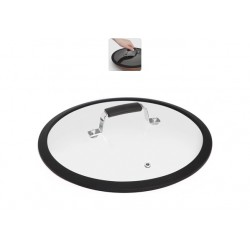 Стеклянная крышка с силиконовым ободом,26см LOTA