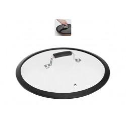 Стеклянная крышка с силиконовым ободом 28 см LOTA 751411