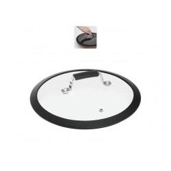 Стеклянная крышка с силиконовым ободом 24см LOTA 751413