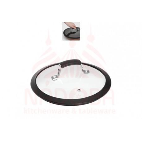 Стеклянная крышка с силиконовым ободом,20 см LOTA