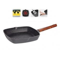 Сковорода-гриль OLDRA с антипригарным покрытием, 28х28 см