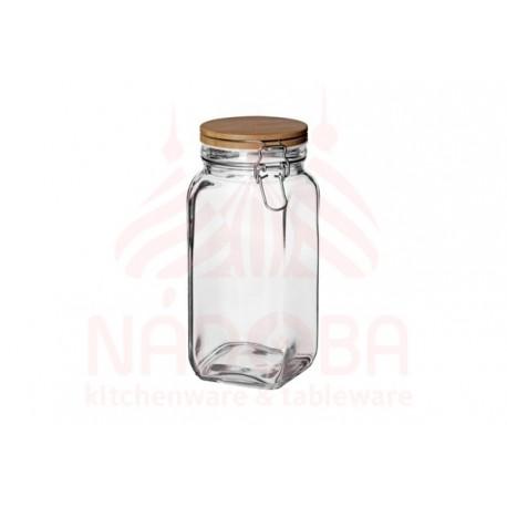 Ёмкость для сыпучих продуктов с крышкой из бамбука с замком NADOBA серии DASA 1,6 литра