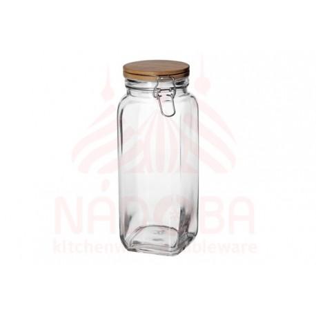 Ёмкость для сыпучих продуктов с крышкой из бамбука с замком NADOBA серии DASA 2 литра