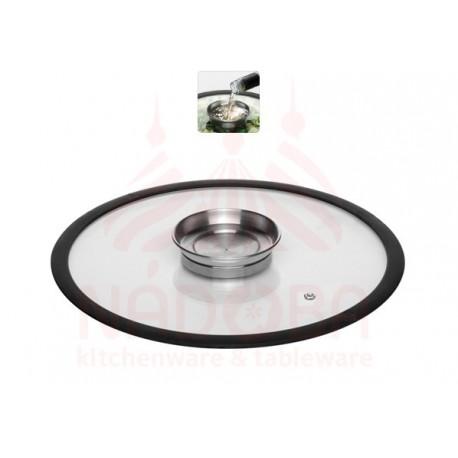 Стеклянная аромокрышка с силиконовым ободом 28 см NATA