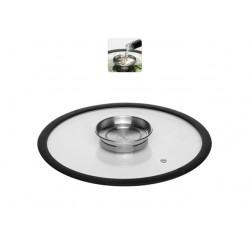 Стеклянная аромокрышка с силиконовым ободом 26 см NATA 751512