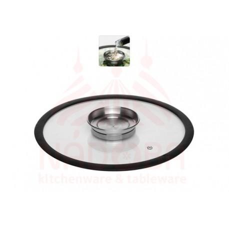 Стеклянная аромокрышка с силиконовым ободом 26 см NATA