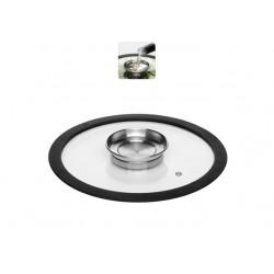Стеклянная аромокрышка с силиконовым ободом 24 см NATA 751513