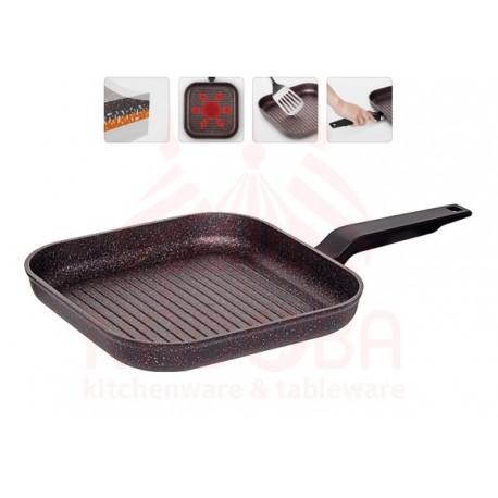 Сковорода Гриль с антипригарным покрытием Nadoba KOSTA 26х26 см